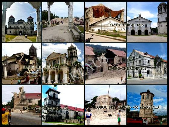 Several Churches that were destroyed!