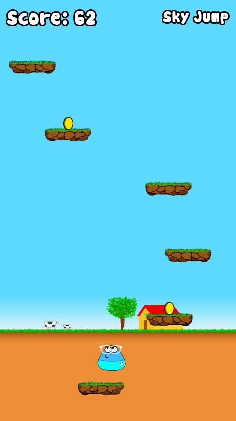 Played POU while at rest after a day of tea