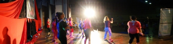 Panorama view on stage