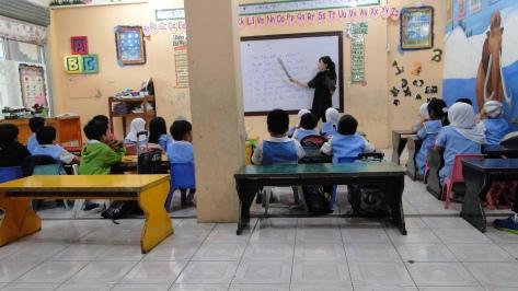 Preschooler on Math Session
